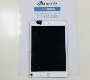 iPad mini5 ガラス割れ+液晶不具合修理について