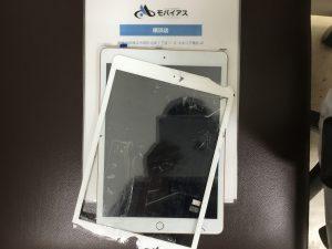 iPad第7世代のガラス割れ交換修理