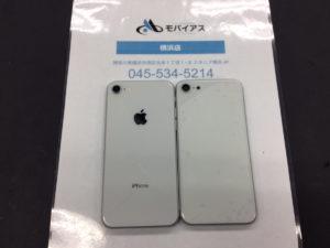 iPhone8 背面ガラス修理